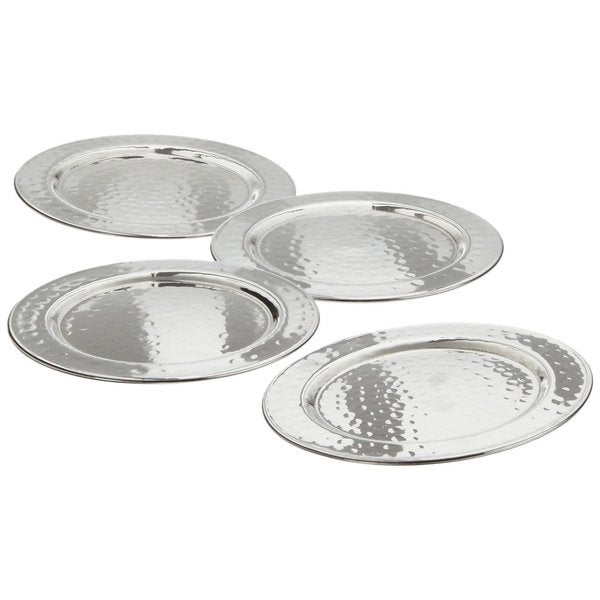 Elegance Hammered 4-inch Round Coasters (set of 4)