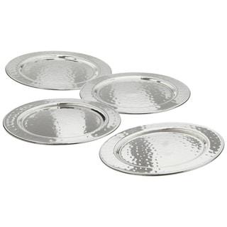 Elegance Hammered 4-inch Round Coasters (set of 4)