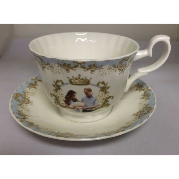 Roy Kirkham Breakfast Cup/Saucer - Prince George (Set of 2) 16357956