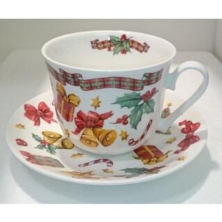 Roy Kirkham Breakfast Cup/Saucer - X'mas Gift (Set of 2)