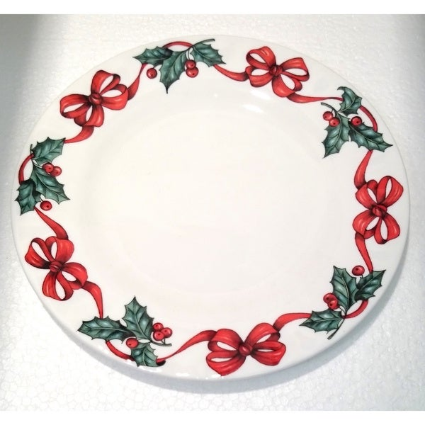 Roy Kirkham Tea Plate - X'mas Ribbon (Set of 6)
