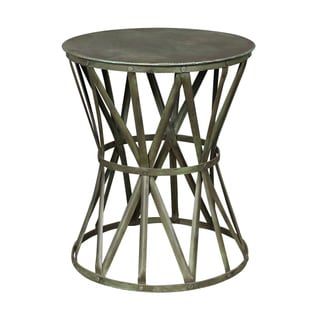Porter Truss Green Distressed Industrial Metal Side Table (India)