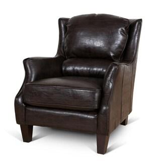 Porter Garnett Espresso Bonded Leather Accent Chair
