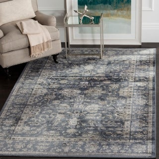 Safavieh Vintage Dark Blue/ Cream Rug (9' x 12')