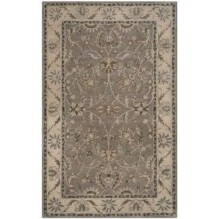 Safavieh Handmade Heritage Grey/ Beige Wool Rug (4' x 6')