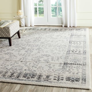 Safavieh Carmel Beige/ Blue Cotton Rug (9' x 12')
