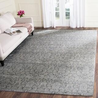 Safavieh Vintage Dark Grey/ Light Grey Rug (5'1 x 7'7)
