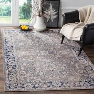Safavieh Artisan Grey/ Blue Cotton Rug (6'7 x 9')