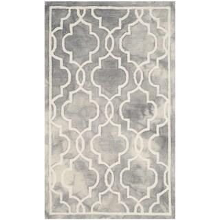 Safavieh Handmade Dip Dye Grey/ Ivory Wool Rug (3' x 5')