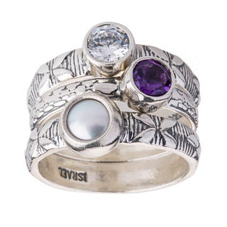Sterling Silver 3-piece Stackable Ring Set