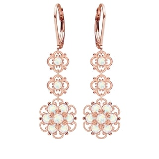 Lucia Costin Sterling Silver White Crystal Earrings
