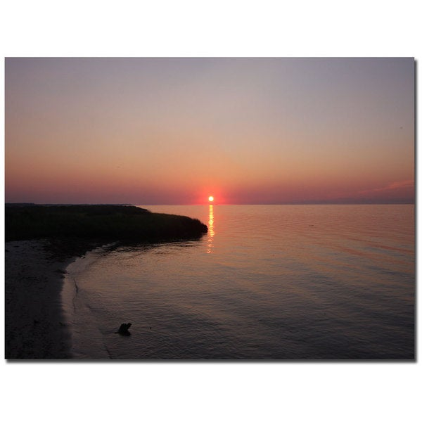 Cary Hahn 'Ruby Sunset' 14x19 Canvas Wall Art