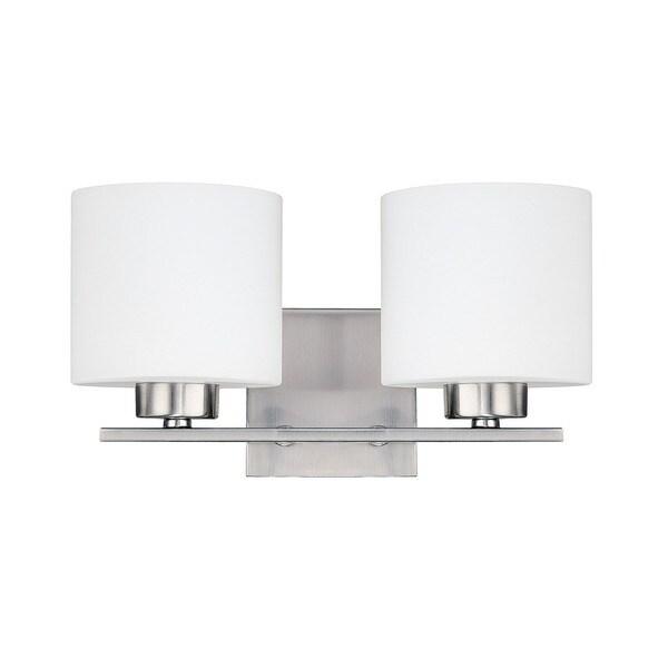 Capital Lighting Steele Collection 2-light Brushed Nickel Bath/Vanity Light (As Is Item)
