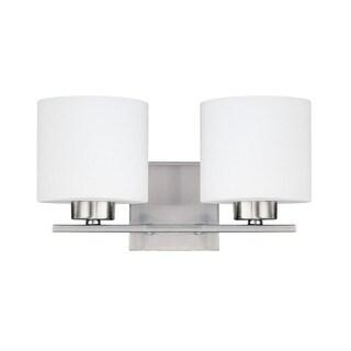 Capital Lighting Steele Collection 2-light Brushed Nickel Bath/Vanity Light