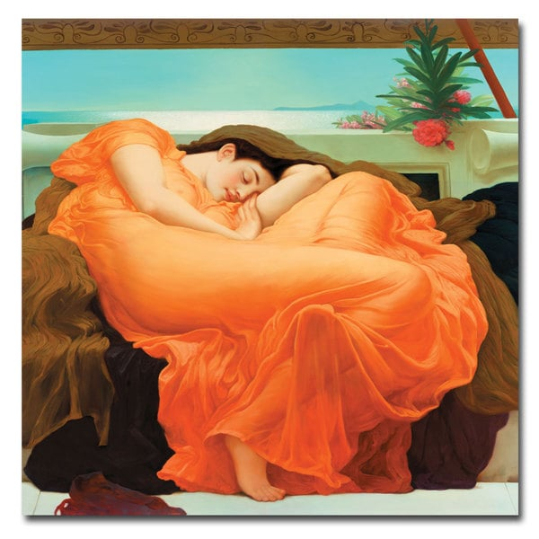 Frederick Leighton 'Flaming June' 24x24 Canvas Wall Art