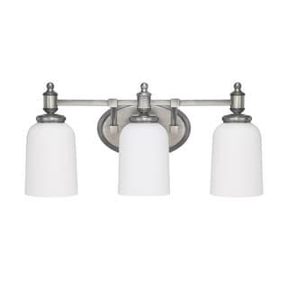 Capital Lighting Covington Collection 3-light Antique Nickel Bath/Vanity Light