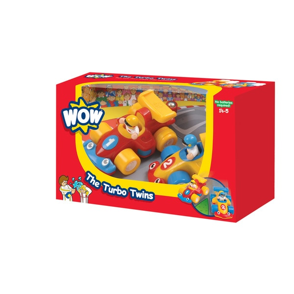 WOW Toys The Turbo Twins Car Racing Play Set