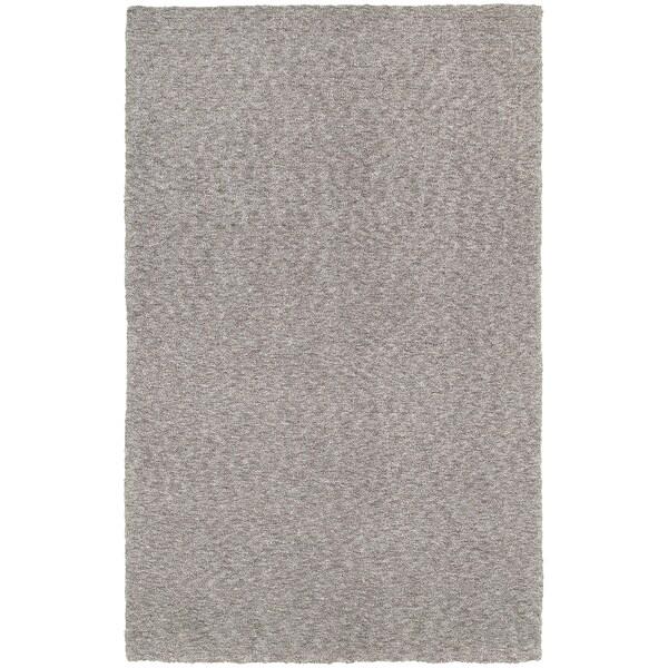 Cozy Indulgence Heathered Grey Shag Rug (3' x 5')