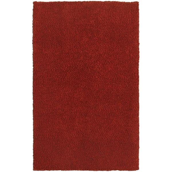 Cozy Indulgence Heathered Red Shag Rug (3'x5')