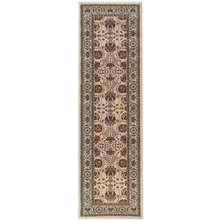Updated Old World Persian Flair Ivory/ Red Rug (2'3 x 7'9)
