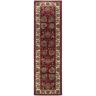 Updated Old World Persian Flair Red/ Ivory Rug (2'3 x 7'9)