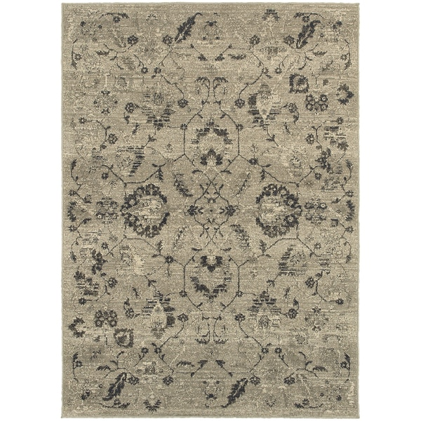 Global Influence Floral Traditional Beige/ Multi Area Rug (3'10 x 5'5)