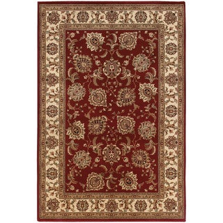"Updated Old World Persian Flair Red/ Ivory Rug (4'X 5'9"")"
