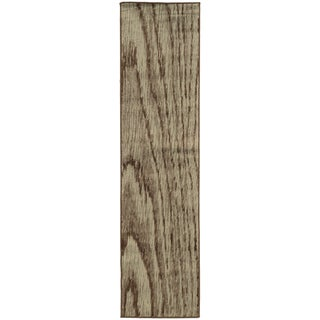 Wood Grain Stone/ Brown Rug (1'10 x 7'6)