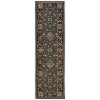 Updated Old World Persian Flair Blue/ Black Rug (2'3 x 7'9)