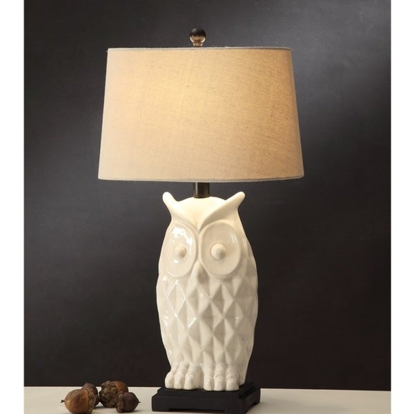 2M Designs White Owl Table Lamp (Set of 2)