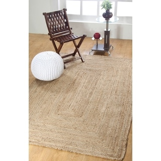 Hand-woven Natural Jute Braided Rug (8' x 10')