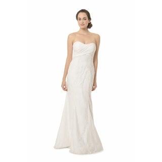 Bari Jay Fashions White Strapless Silhouette Wedding Dress
