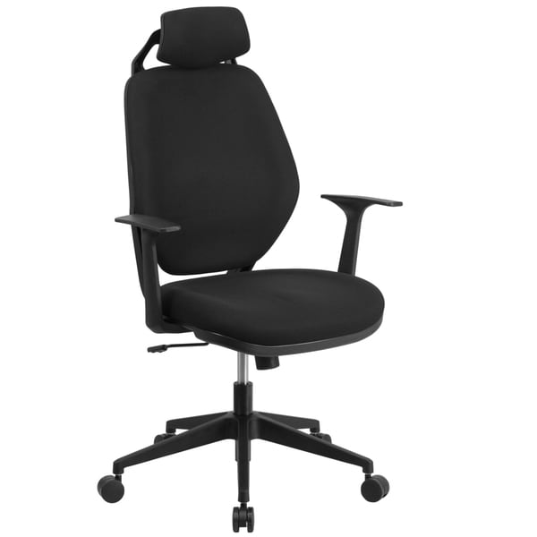 High Back Black Fabric Chair