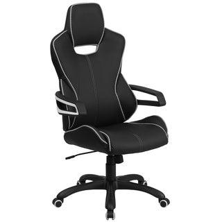 High Back Black Vinyl Chair