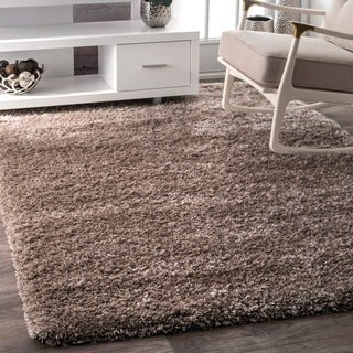 nuLOOM Soft and Plush Solid Thick Shag Taupe Rug (9'2 x 12')