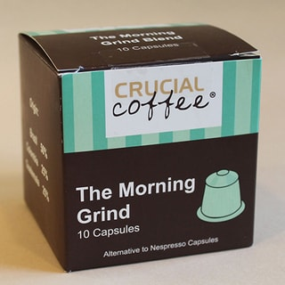 The Morning Grind Replacement Coffee Capsules for Use in Most Nespresso Machines 10 Capsules