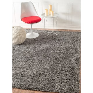 nuLOOM Soft and Plush Modern Solid Shag Grey Rug (8' x 10')
