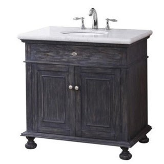 Lincoln Vanity Base with Stone Top and Sink