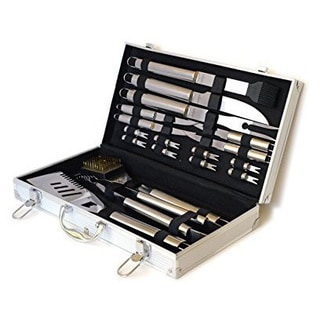 Culina BBQ 18 pcs Stainless Steel in Elegant Aluminum Stow Case
