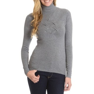 Cyrus Women's Turtle Neck with Puckered Chest Detail