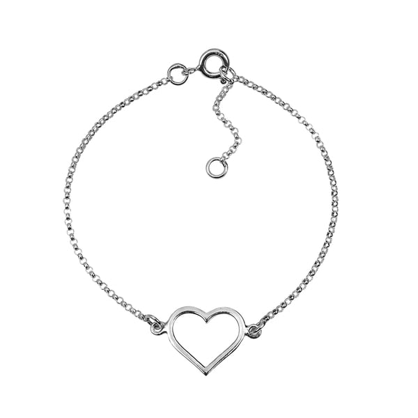 Special Romance Open Heart .925 Sterling Silver Bracelet (Thailand)