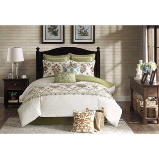 Harbor House Arabesque Ivory 4-Piece Cotton Comforter Set