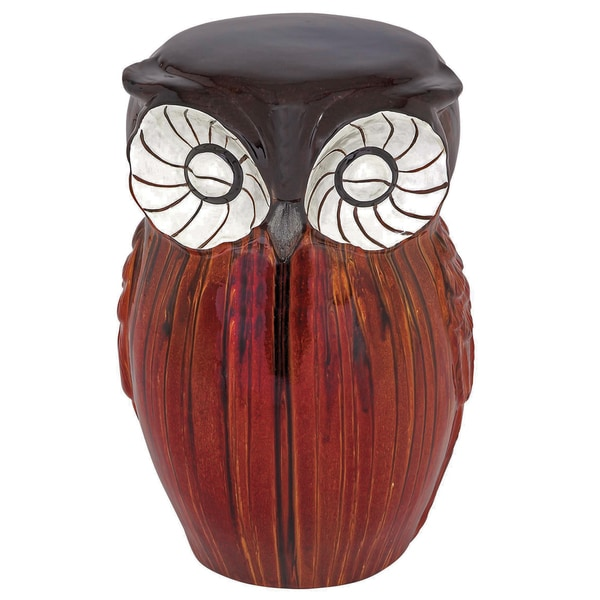 Hand-painted Owl Ceramic Stool