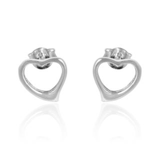 Charming Love Heart .925 Sterling Silver Earrings (Thailand)