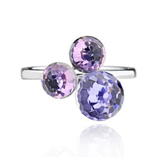 Sterling Silver Multi Special Shape Crystal Ring (China)