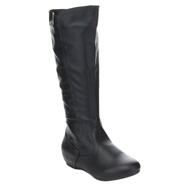 Spirit Moda Doreen-1 Women's Comfort Knee High Round Toe Riding boots