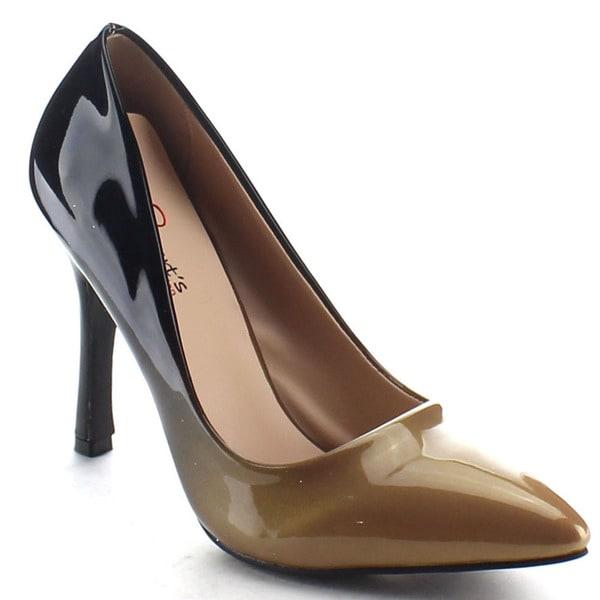 I HEART COLLECTION ZARA-02 Women's Pointed Toe Shade Platform Stiletto Heel Pump