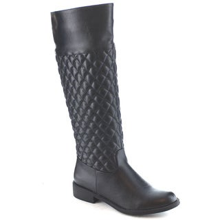 Machi Lily-3 Women's Quilted Knee High Riding Boots