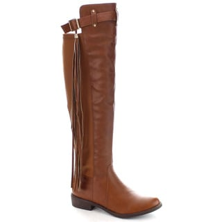 Machi Lily-4 Women's Comforty Fringe 50/50 Knee High Boots