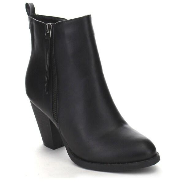FASHION FOCUS PALMA-3 Women's Cute Tassel Double Side Zip Dress Ankle Booties